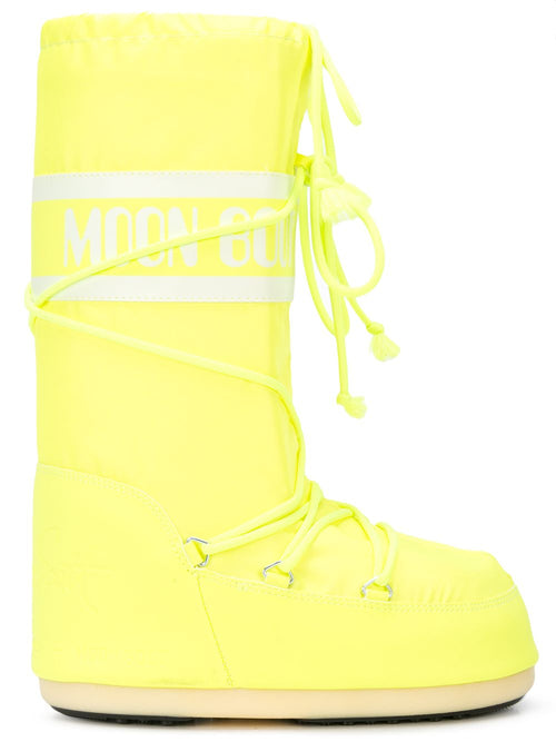 odd92 Jeremy Scott x Moonboot Neon Yellow Short Moonboots - 1