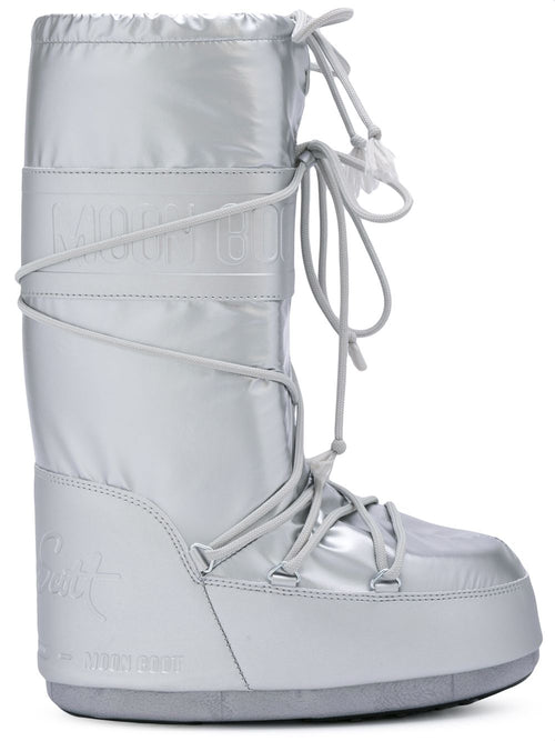odd92 Jeremy Scott x Moonboot Silver Short Moonboots - 1