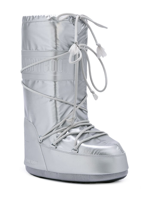 odd92 Jeremy Scott x Moonboot Silver Short Moonboots - 2