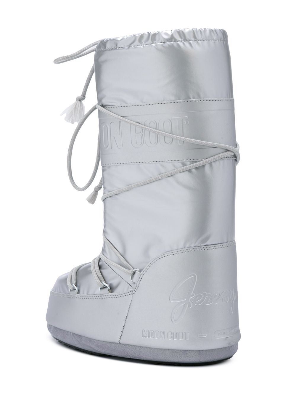 odd92 Jeremy Scott x Moonboot Silver Short Moonboots - 3