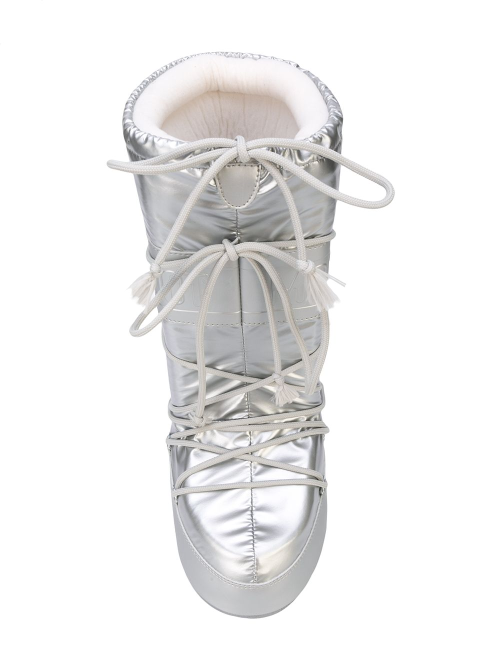 odd92 Jeremy Scott x Moonboot Silver Short Moonboots - 4