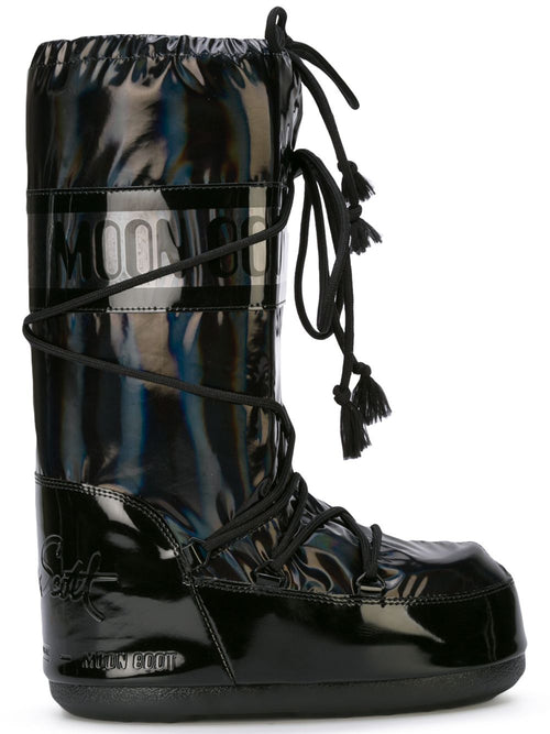 odd92 Jeremy Scott x Moonboot Holographic Black Short Moonboots - 1