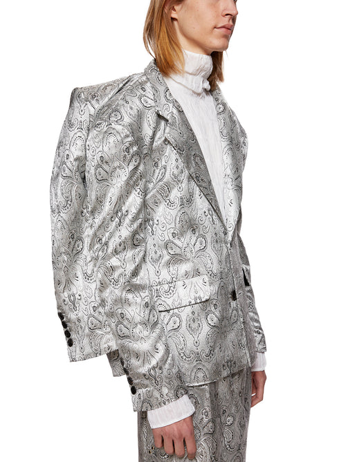 Y/Project Silver Paisley Doubled Blazer - 2