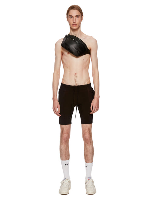 Barbara Bologna Black Leather Marsupio Fanny Pack Cottweiler Shorts - 1