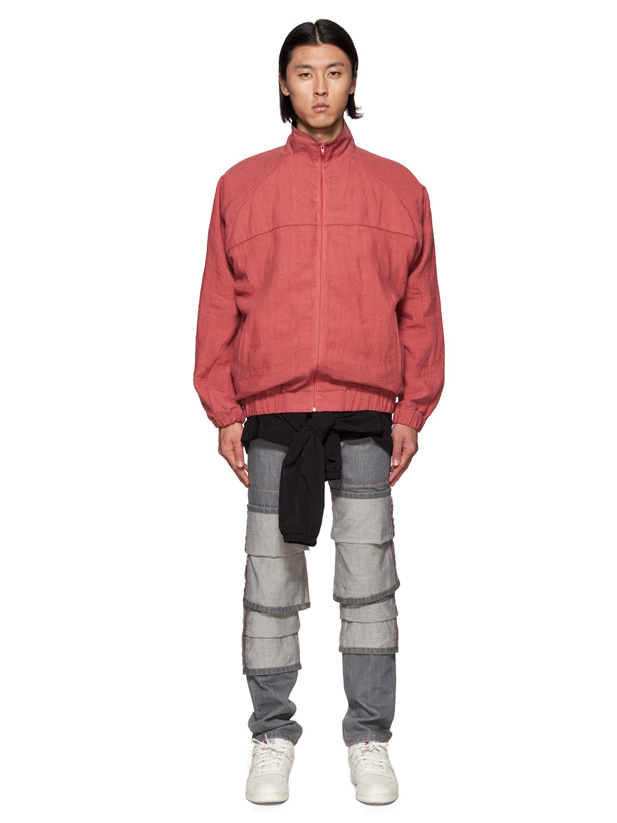 Y/Project Red Linen Double Layer Short Parka - 2