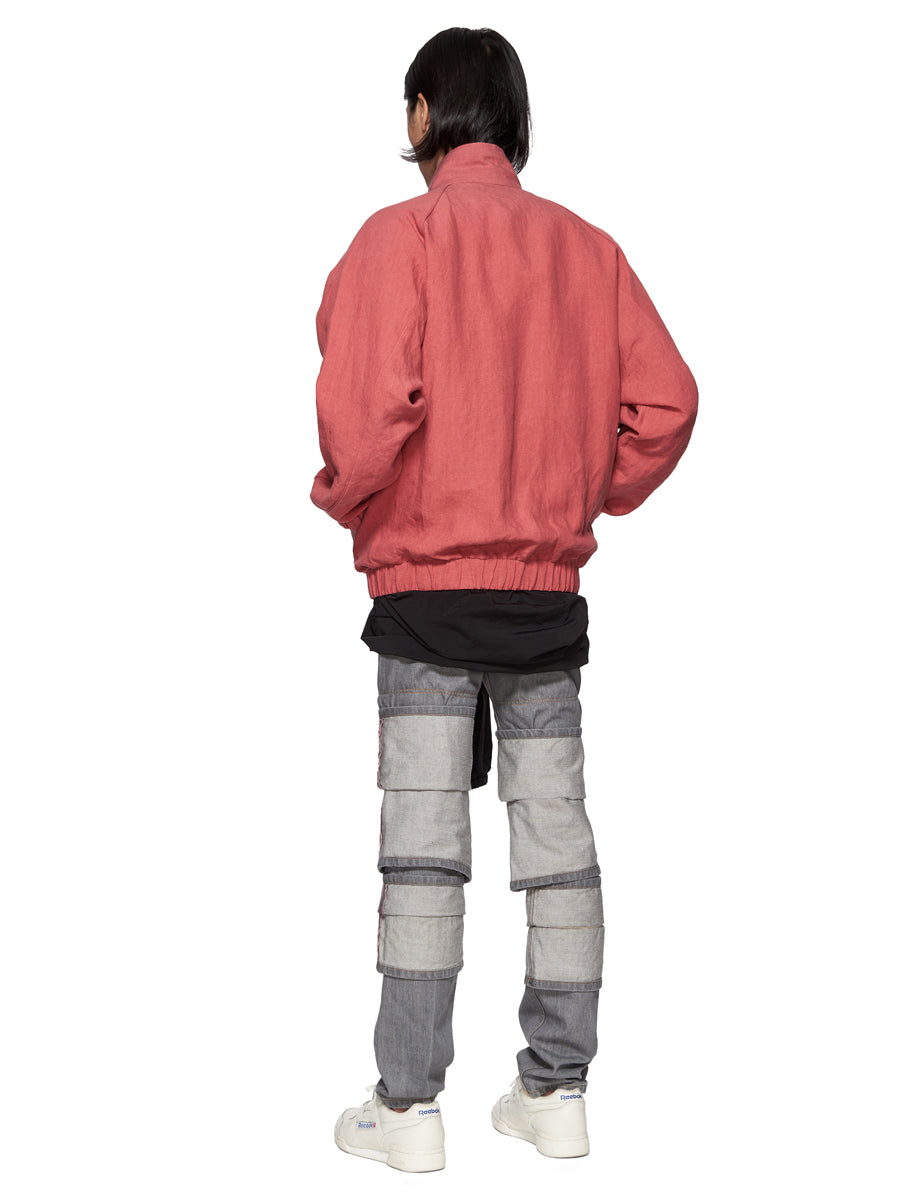 Y/Project Red Linen Double Layer Short Parka - 4