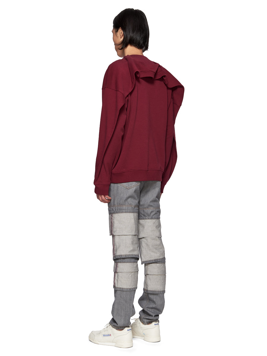 Y/Project Double Shoulder Sweatshirt Burgundy - 5