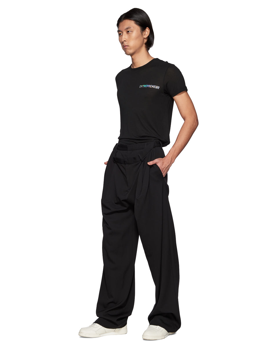 Y/Project Black Slouch Front Trousers - 4