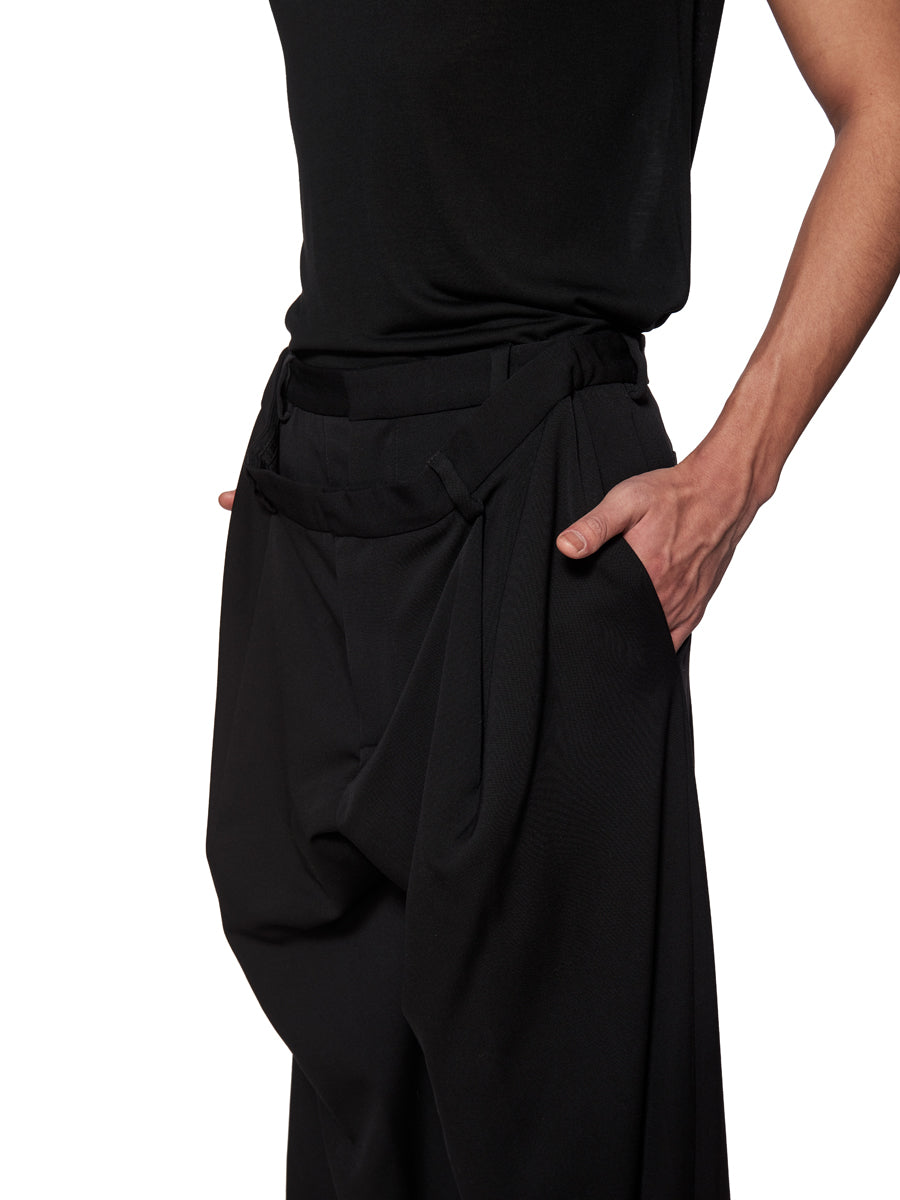 Y/Project Black Slouch Front Trousers - 5