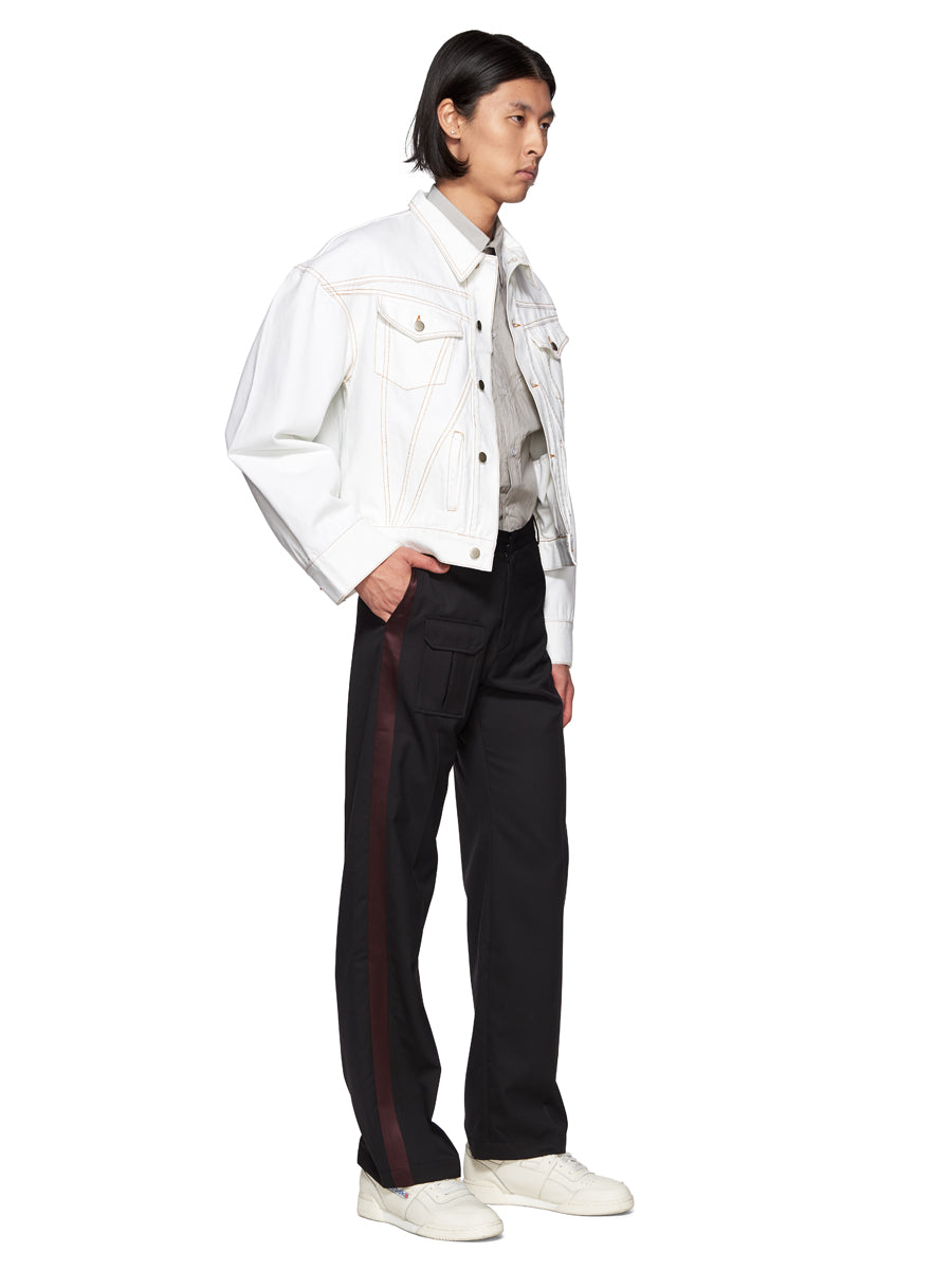 Chin Mens White Denim Jacket - 4