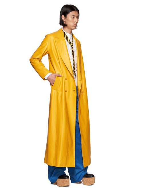 Charles Jeffrey Loverboy Yellow Matrix Great Coat - 2