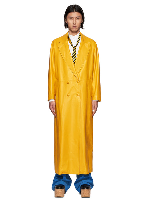 Charles Jeffrey Loverboy Yellow Matrix Great Coat - 1