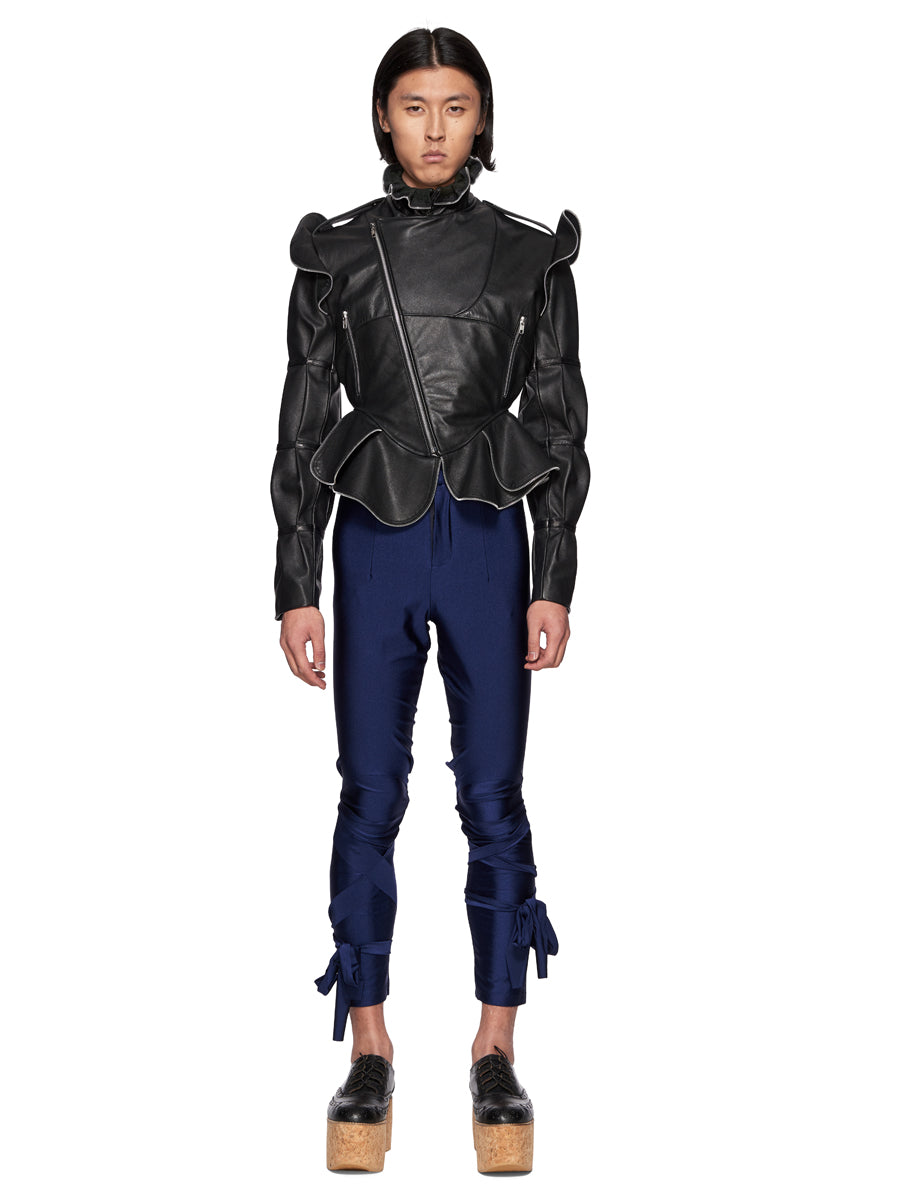 Charles Jeffrey Loverboy Burtha Leather Biker Jacket - 5