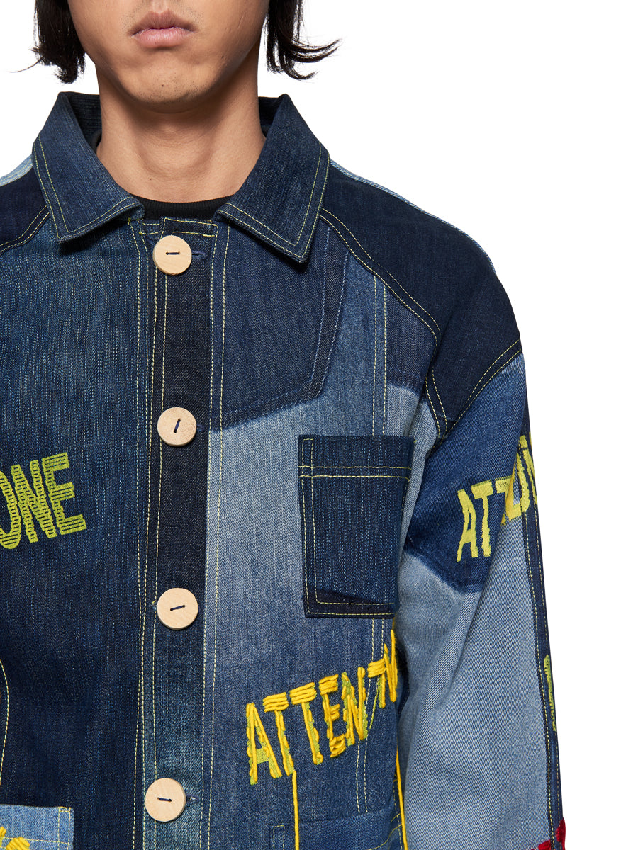 Bethany Williams Attenzione Denim Jacket - 5