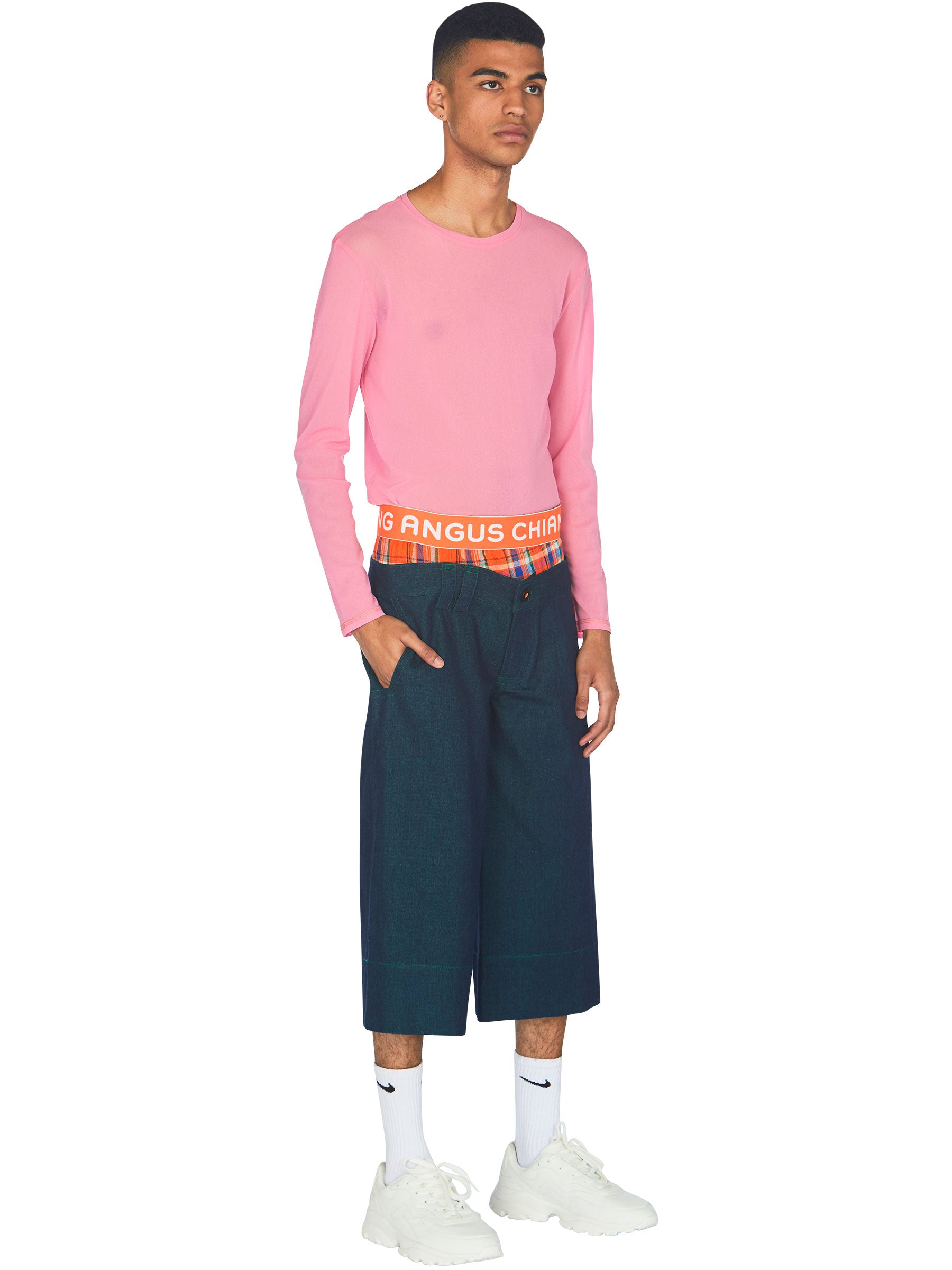 Layered Cropped Pants