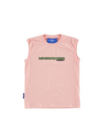 Photo Print Sleeveless Tee