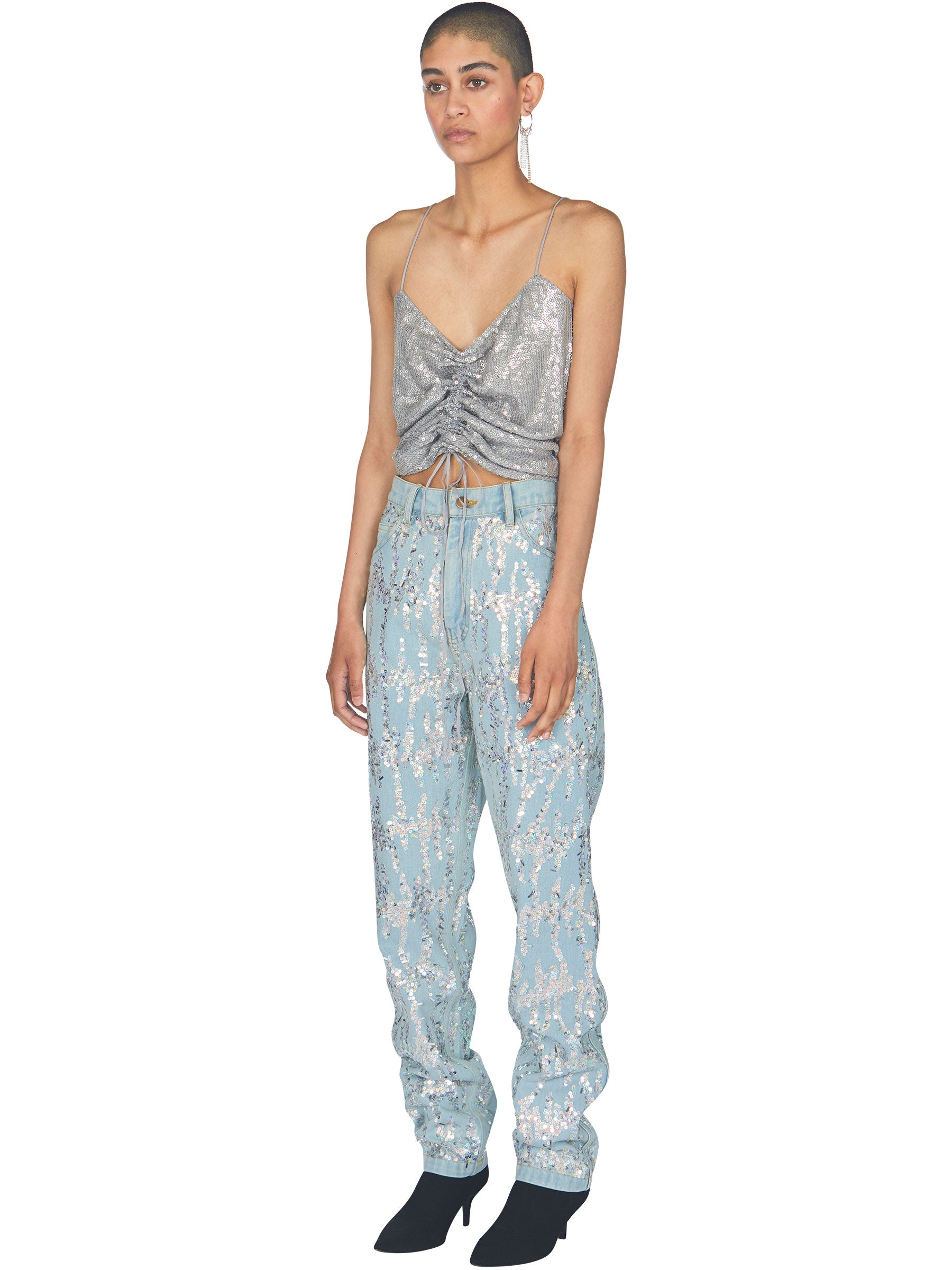 odd92 Ashish Unisex Embroidered Denim Jeans Sequins Spring/Summer 2019 - 3