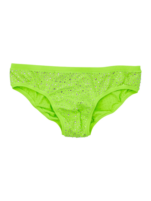 odd92 Ashish Green Men's Rhinestone Briefs Spring/Summer 2019 - 1