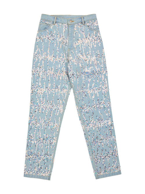 odd92 Ashish Unisex Embroidered Denim Jeans Sequins Spring/Summer 2019 - 1