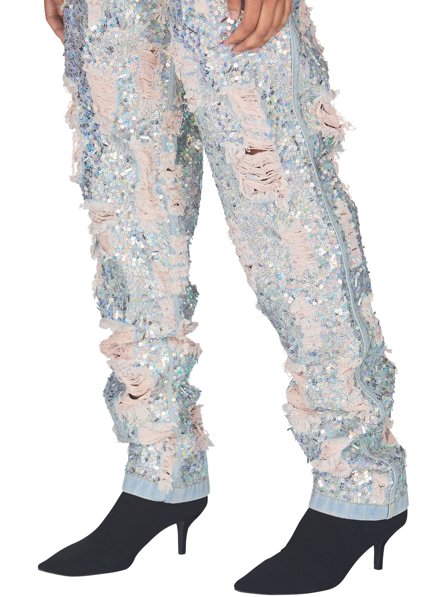 odd92 Ashish Ripped Sequin Jeans Spring/Summer 2019 - 4