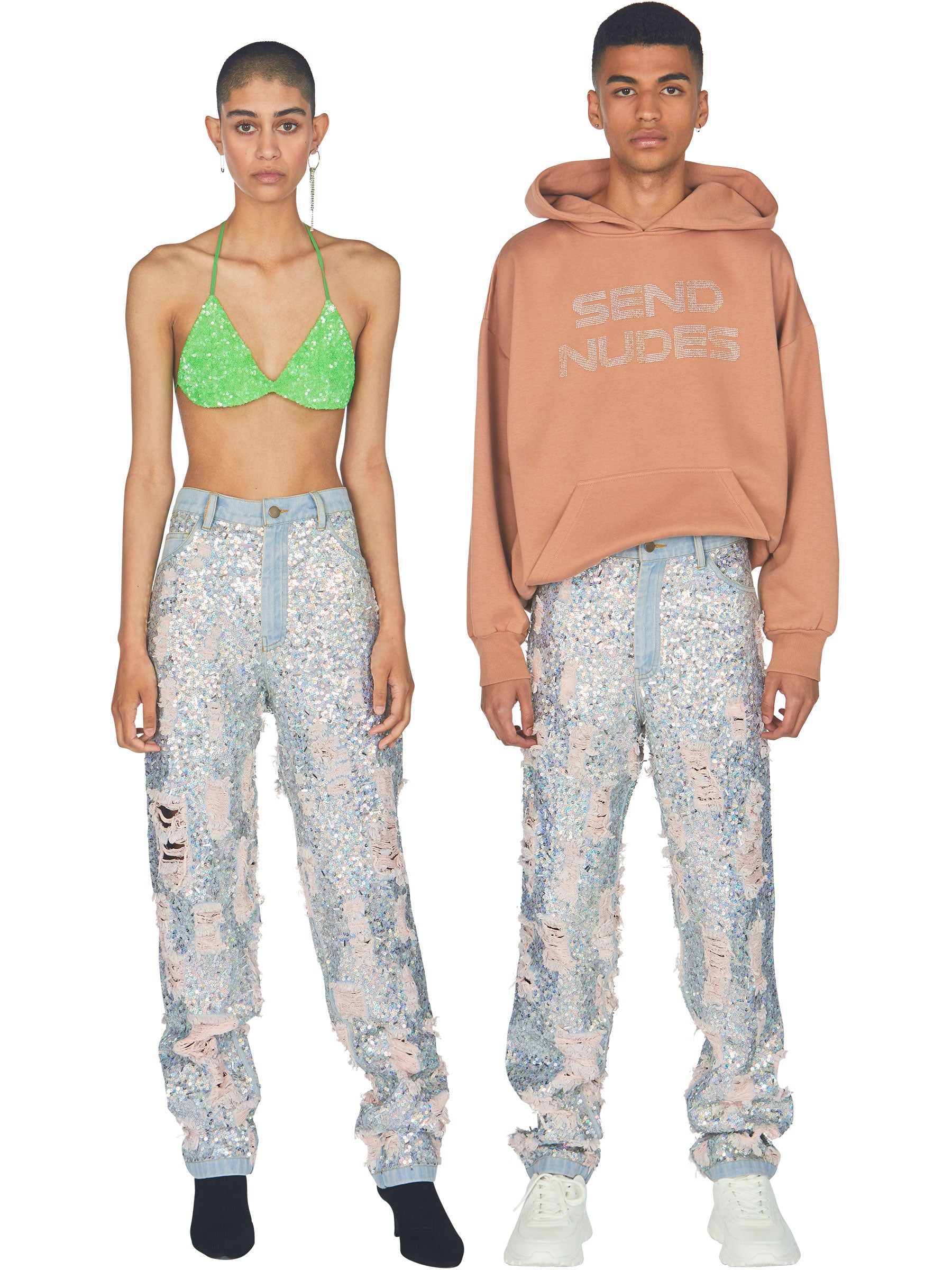 odd92 Ashish Ripped Sequin Jeans Spring/Summer 2019 - 2
