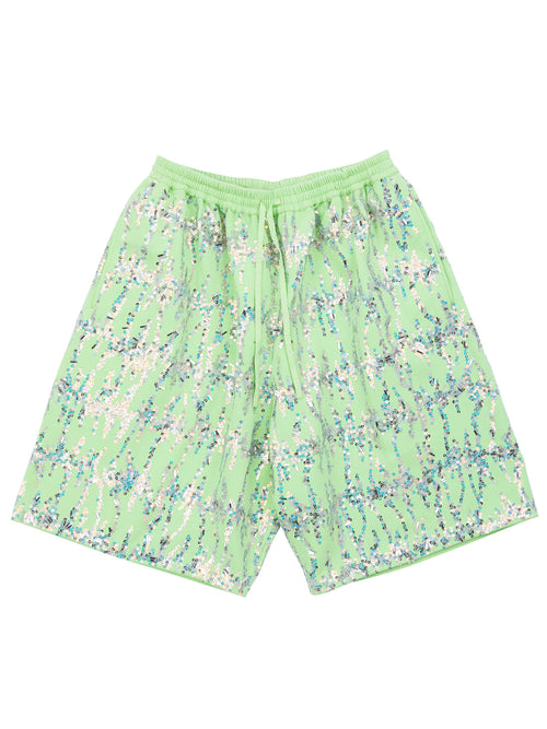 odd92 Ashish Embroidered Fleece Bermuda Shorts Spring/Summer 2019 - 1