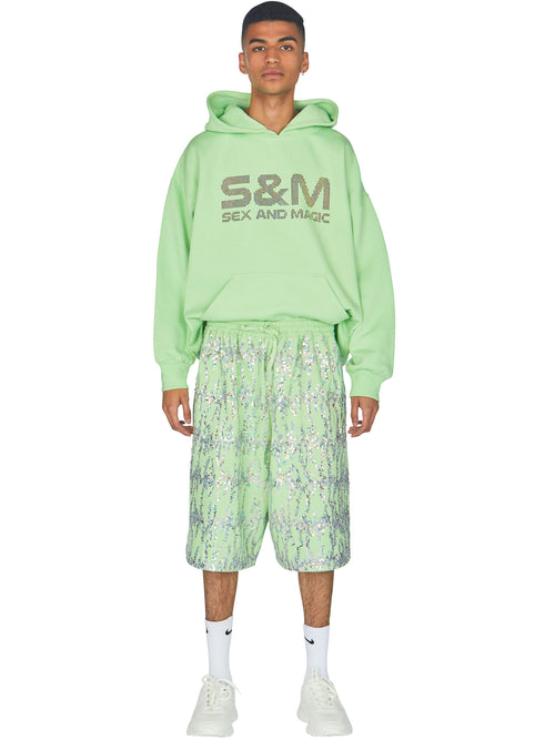 odd92 Ashish Embroidered Fleece Bermuda Shorts Spring/Summer 2019 - 2
