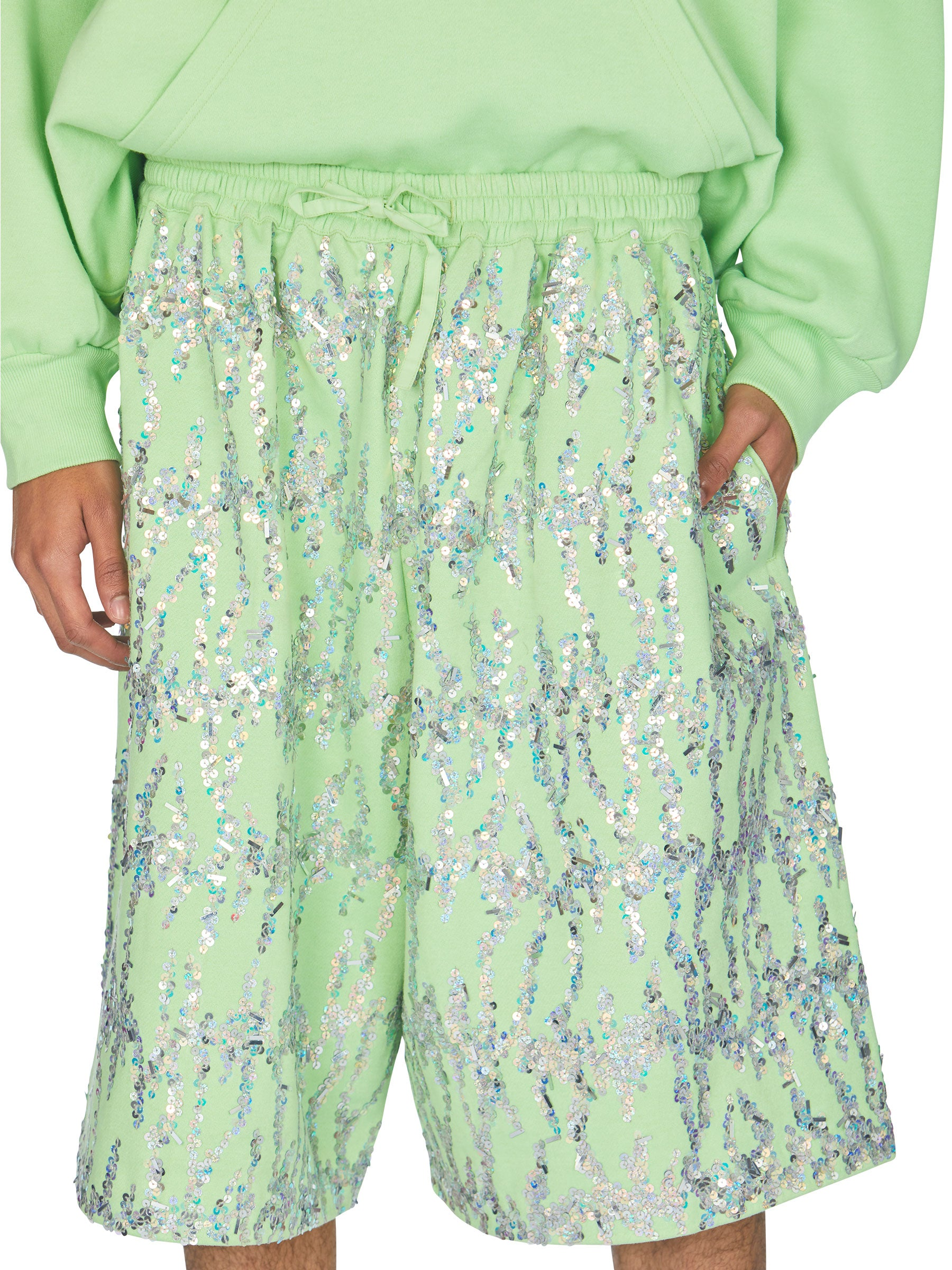 odd92 Ashish Embroidered Fleece Bermuda Shorts Spring/Summer 2019 - 3