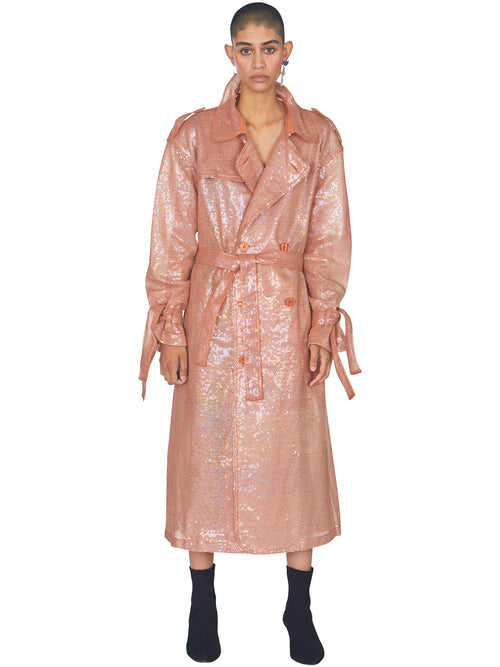 odd92 Ashish Sequin Trench Coat Mirage Spring/Summer 2019 - 2