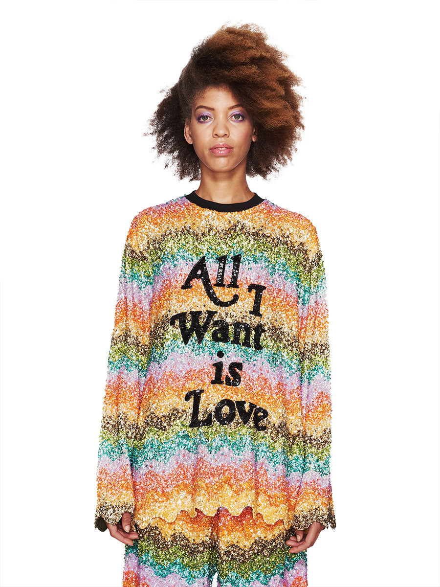 Ashish Fall/Winter 2018 Unisex All I Want Is Love Top odd92 - 1