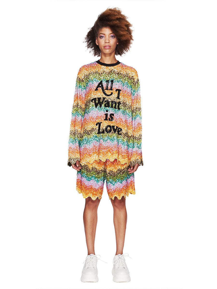 Ashish Fall/Winter 2018 Unisex All I Want Is Love Top odd92 - 5