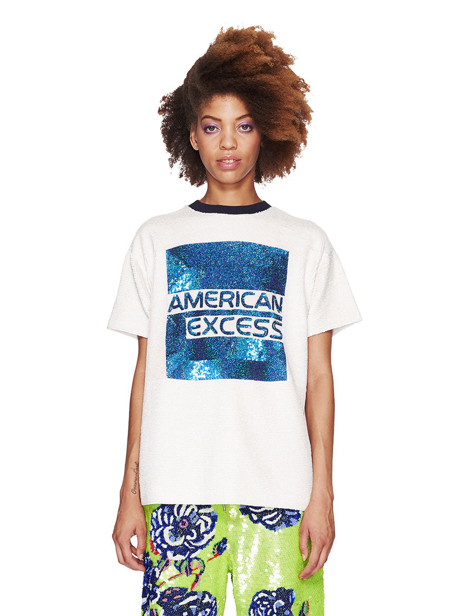 Ashish Fall/Winter 2018 Unisex American Excess Sequin T-Shirt odd92 - 1