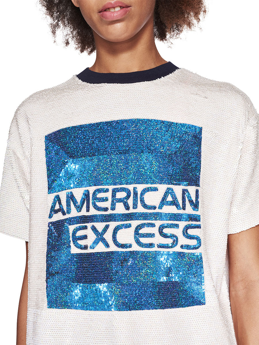 Ashish Fall/Winter 2018 Unisex American Excess Sequin T-Shirt odd92 - 2