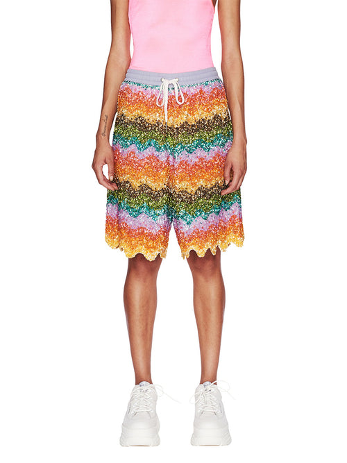 Ashish Fall/Winter 2018 Unisex Beaded Bermuda Shorts odd92 - 1