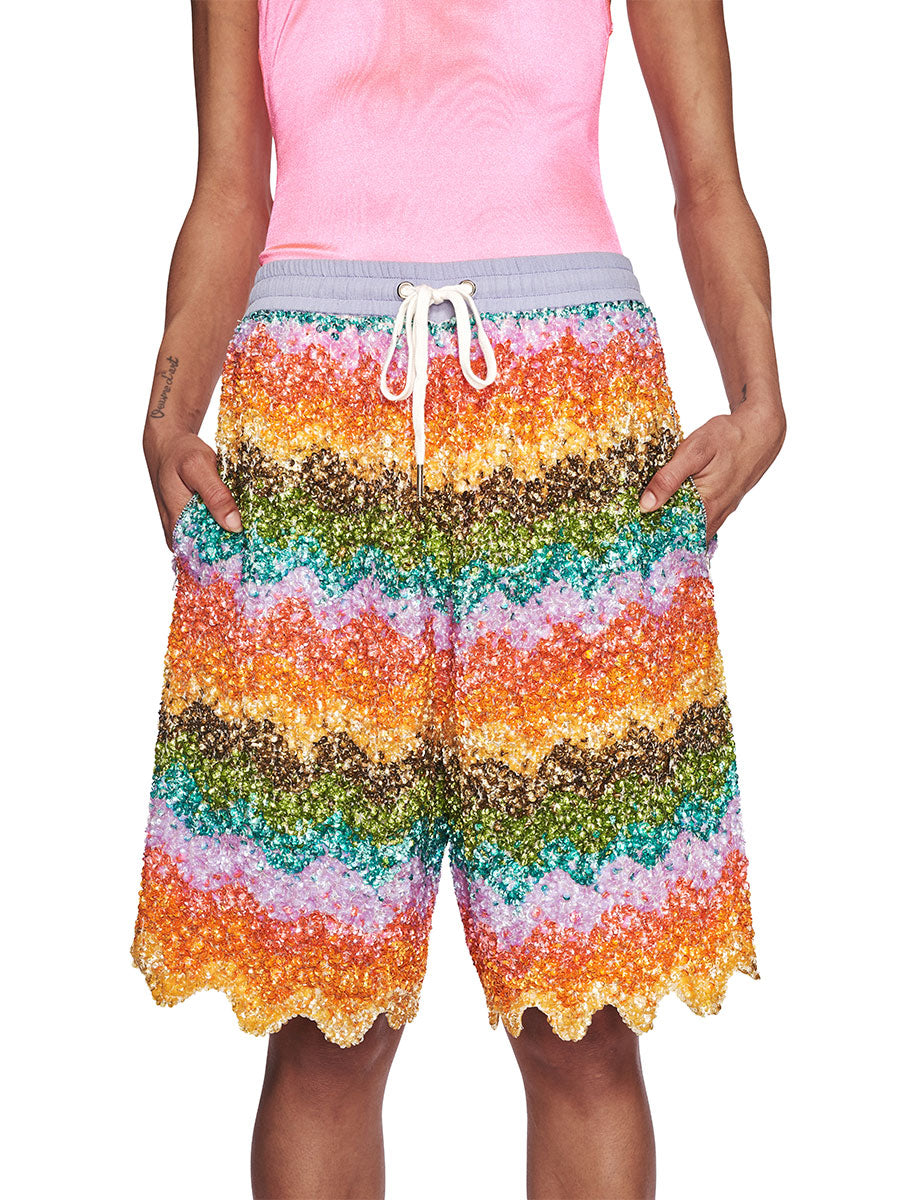 Ashish Fall/Winter 2018 Unisex Beaded Bermuda Shorts odd92 - 5