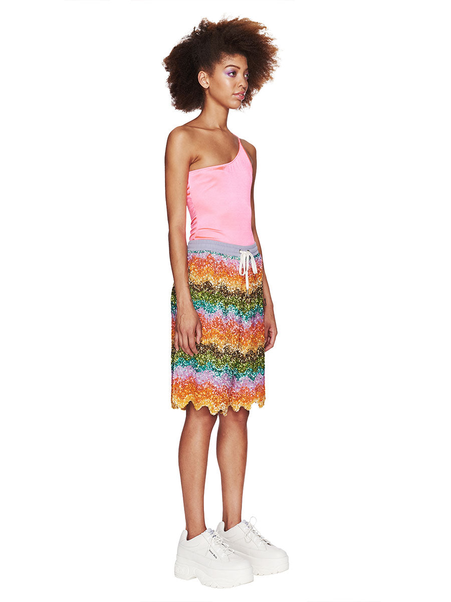 Beaded Bermuda Shorts