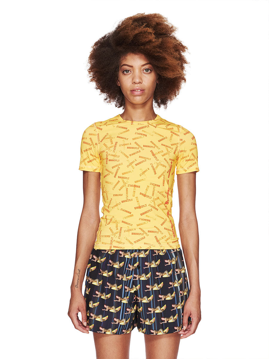 Adam Selman Fall/Winter 2018 Womenswear Banana Split T-Shirt odd92 - 1