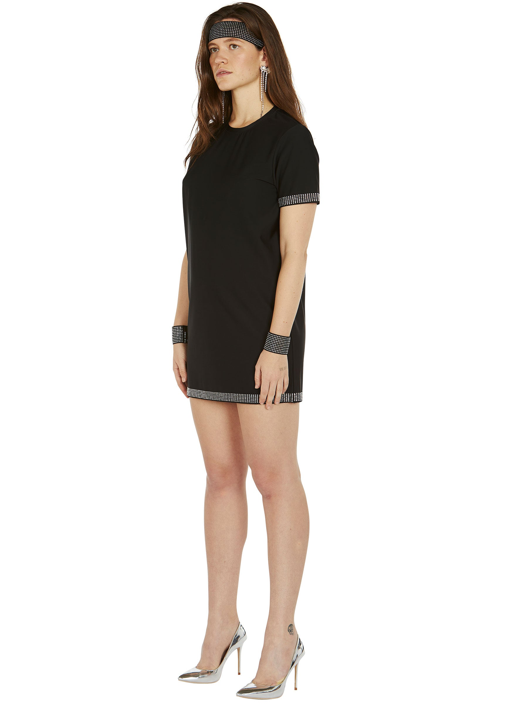 odd92 Adam Selman Sport Crystal T Mini Dress Spring/Summer 2019 Womenswear - 4