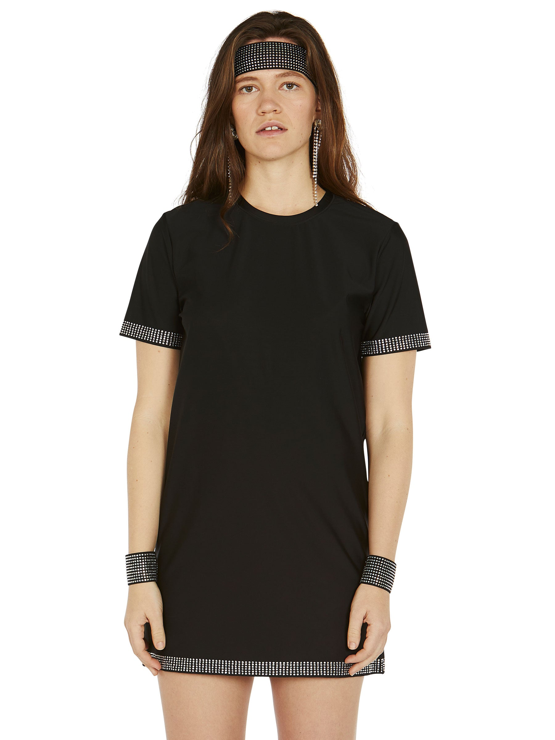 odd92 Adam Selman Sport Crystal T Mini Dress Spring/Summer 2019 Womenswear - 3