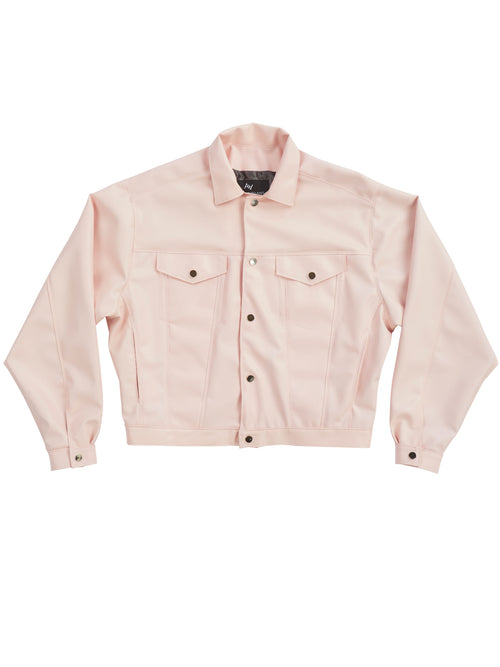 odd92 Shop Arthur Avellano Spring/Summer 2019 Menswear Pink Latex Jean Jacket - 1