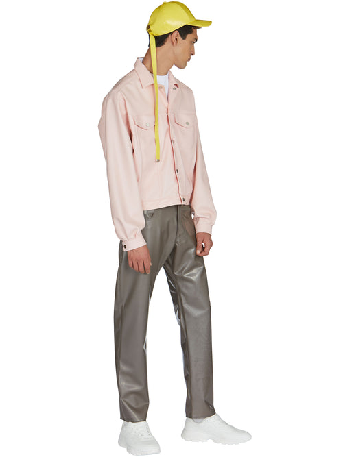 odd92 Shop Arthur Avellano Spring/Summer 2019 Menswear Pink Latex Jean Jacket - 2