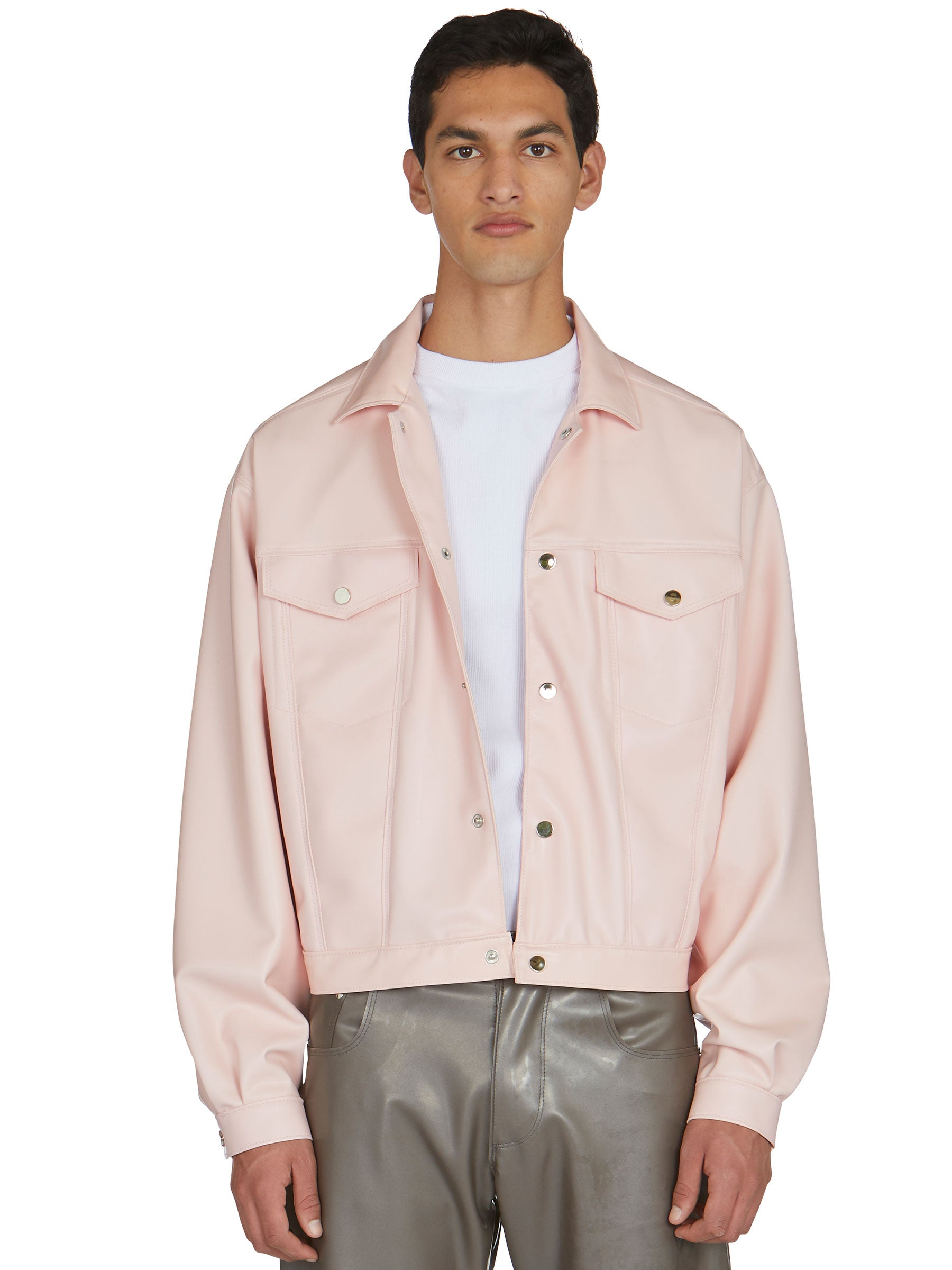 odd92 Shop Arthur Avellano Spring/Summer 2019 Menswear Pink Latex Jean Jacket - 3