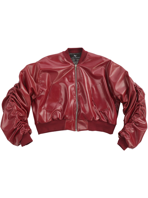 Latex Bomber Jacket