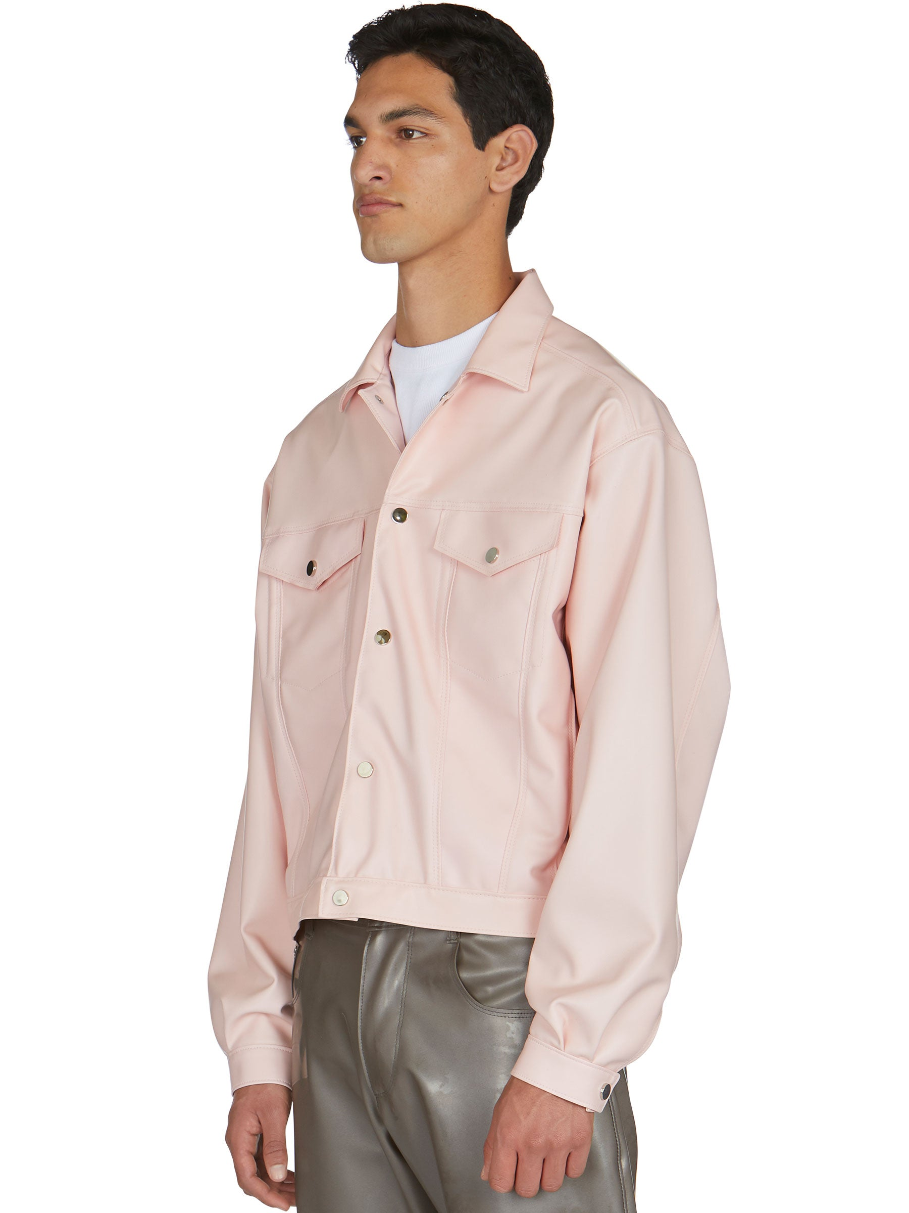 odd92 Shop Arthur Avellano Spring/Summer 2019 Menswear Pink Latex Jean Jacket - 5