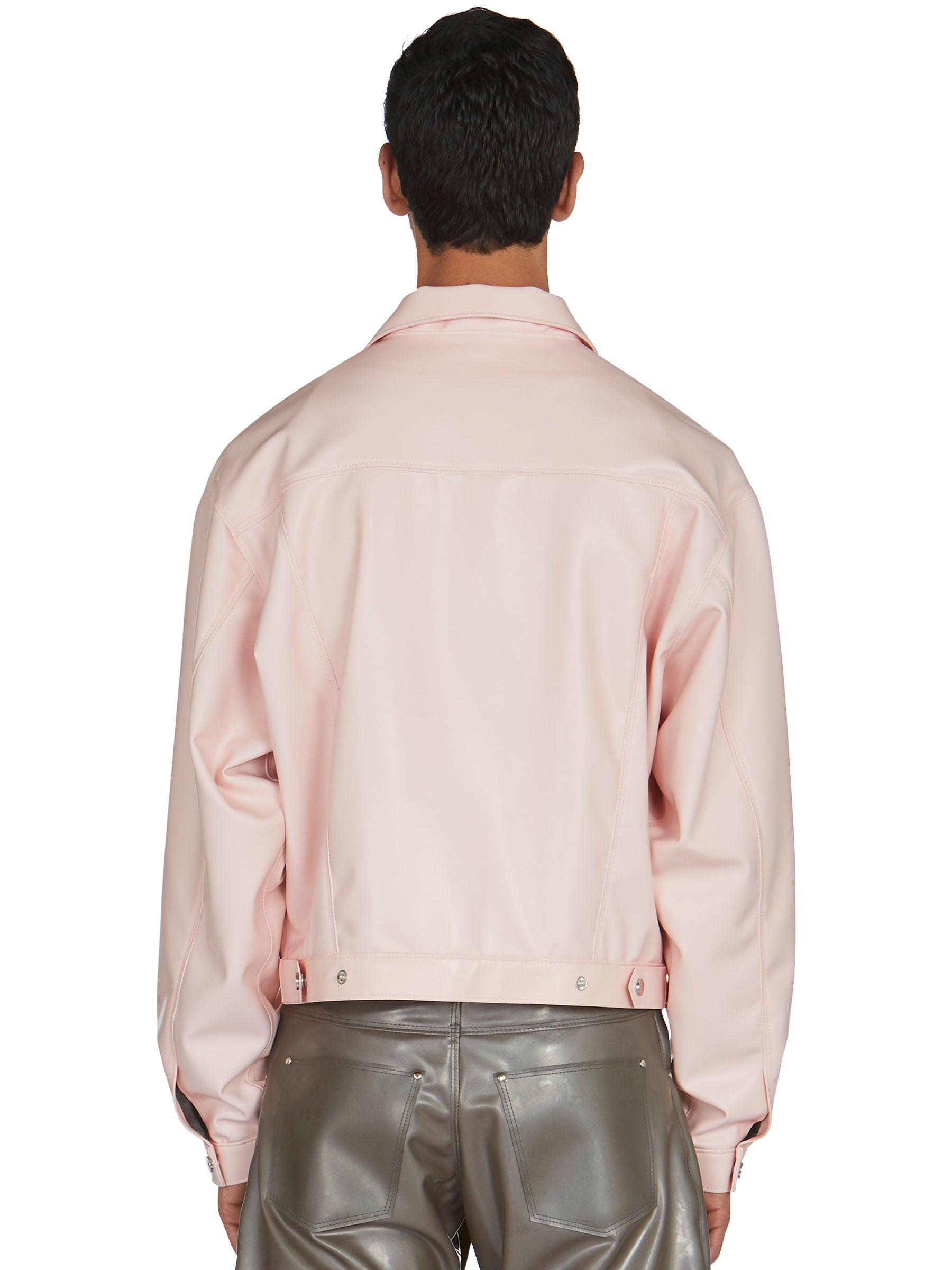 odd92 Shop Arthur Avellano Spring/Summer 2019 Menswear Pink Latex Jean Jacket - 6