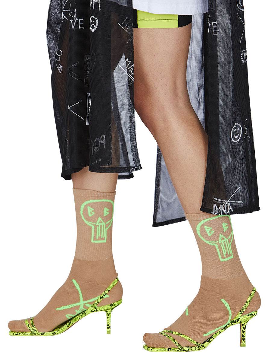 odd92 Barbara Bologna D.N.A. BB Socks Lime Green Beige Spring/Summer 2019 - 3