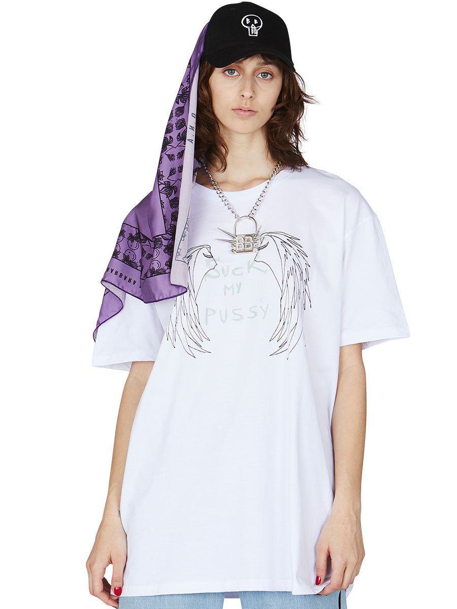 odd92 Barbara Bologna White Oversized Graphic T-Shirt Spring/Summer 2019 Womenswear - 4