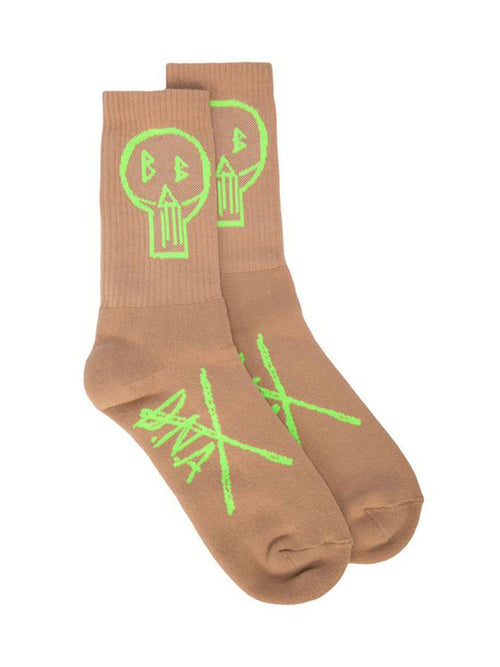 odd92 Barbara Bologna D.N.A. BB Socks Lime Green Beige Spring/Summer 2019 - 1