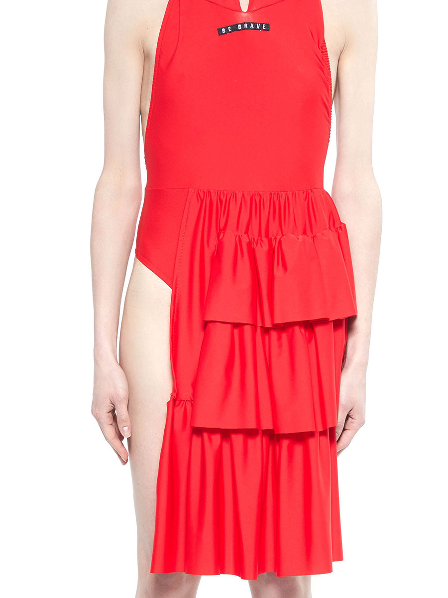 Barbara Bologna red be brave swim dress - 4