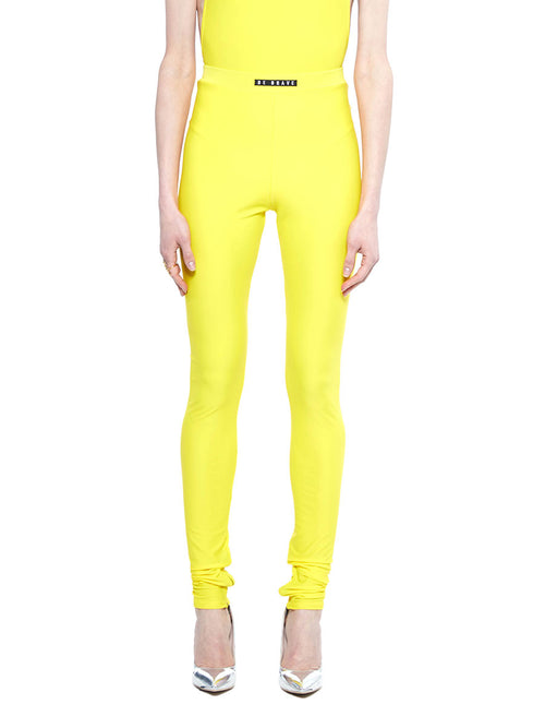 barbara bologna bright yellow be brave leggings - 1